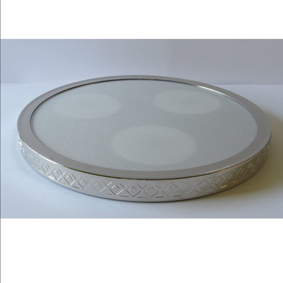 """PartyLite Color Changing Base Tray 10"""" diameter"""